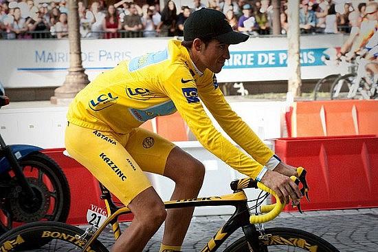 Alberto Contador. Photo by Flickr user Josh Hallett (hyku)